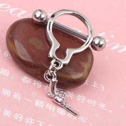 Pendientes del pezón en Línea-Redonda Manillas Nipple anillo de piercing joyería del cuerpo 14G de níquel libre de acero inoxidable joyas mujer pendiente