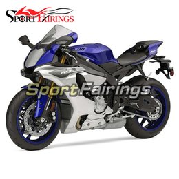 Injection Fairings For Yamaha YZF 1000 YZF R1 15 YZF-R1 2015 ABS Plastic Complete Motorcycle Fairing Kit Carene Silver Blue Body Kit