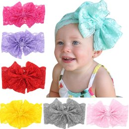Headbands Baby Girls lace bow hair band Elastic Bow Headband Headwear for Newborn Infant Toddler Hair Accessories
