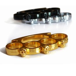 Wholesale New STEEL GHOST BRASS KNUCKLE DUSTERS Black Silver Gold High Quality Best Price