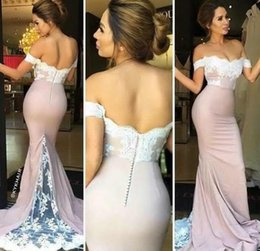 African Dresses Prom Dresses Sexy Formal Lace Mermaid Evening Dresses With Cap Sleeves Zip Back Sweep Train Long Bridesmaid Gowns