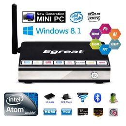 Wholesale Egreat i6 Mini PC Windows Intel Z3735F G G Smart Android TVBOX WIFI p