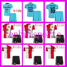 Wholesale 16 Maillots Feyenoord Rotterdam enfants adolescents enfant shirt grossistes THAI Away Home Jersey de rugby ou plus libres d envoyer DHL