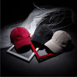Wholesale The new corduroy solid color light board brimmed hat lovers bending motion Benn baseball cap hip hop child