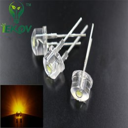 Wholesale Hot SALE bag mm W Straw Hat Yellow High Power LED Light Ultra Bright F8MM Led Electronic Components light Emitting Diodes