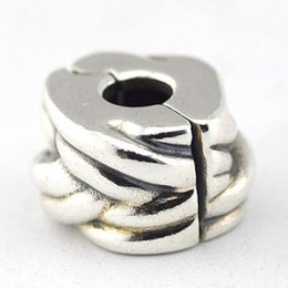 Braided Clip Bead 2016 100% 925 Sterling Silver Bead Fit Pandora Fashion Jewelry DIY Charm Brand