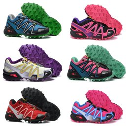 Wholesale Nuevos zapatos corrientes de las mujeres al aire libre SPEEDCROSS3 CS Salomón zapatos impermeables de esquí de fondo corrientes de los deportes Tamaño de zapatos de la nave libre