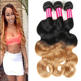 7A Unprocessed Ombre Virgin Hair Brazilian Body Wave Ombre Brazilian Hair Weave 3 Bundles Ombre Human Hair Extensions