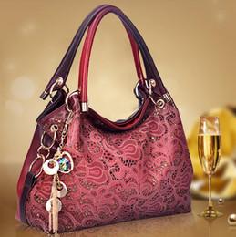 handbag female PU leather hollow out bags handbags color gradient tassel bag ladies portable shoulder bag