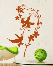 Wholesale Beautiful Nature Spectacle Wall Art Flower Living Room Wall Sticker