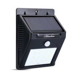 Wholesale Solar Powered Motion Sensor Light LEDs Wall Light for Yard Garden Deck Driveway Outside