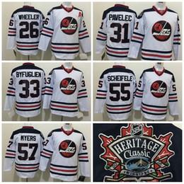 Wholesale Winnipeg Jets Blake Wheeler Jersey ICE Hockey Ondrej Pavelec Jerseys Tyler Myers Dustin Byfuglien Embroidery Heritage Classic