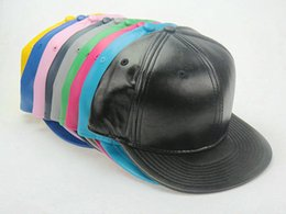 Wholesale High Quality Hot Sale Plain Blank Solid leather Snapback hats black Snapbacks Snap Back Baseball Caps Winter Hats Mix order LS