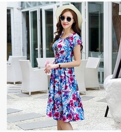 2016 hot sale plus size summer loose dresses casual print lady dresses bohemian long dresses free shipping