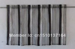 Article 52 in W x17in L attractive black and white yarn dyed curtain