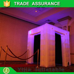 Wholesale free ship by DHL ft colors changing led inflatable photo booth price
