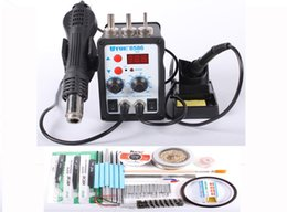 Wholesale YOUYUE V V In Solder Rework Station Hot Air Heat Gun Soldering Iron Welding Repair Machine with Free Gift