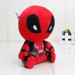 Compra Online Superhéroes juguetes de peluche-Superhéroe de Marvel Deadpool juguetes de peluche suave de la muñeca de 18 cm de algodón PP Deadpool Los animales de peluche los regalos de muñecas