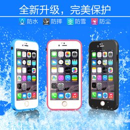 Wholesale 2016hot sale Waterproof TPU Rubber Case Full Boday Cover For iphone SE s plus s Shock proof Dust proof Underwater Diving Cases