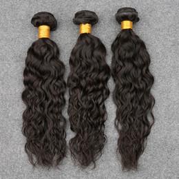 2017 vague d'eau armure bouclée Péruvienne Vague Weave Ocean Wave Virgin Hair 3 Bundles péruvienne Human Hair Extensions 1B naturel Wavy cheveux bouclés Vague vague d'eau armure bouclée offres