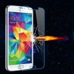 Al por mayor-0.26mm Ultra Thin protector de la pantalla de cristal templado Premium para Samsung Galaxy Nota 2 Nota 3 A3 A5 A7 J1 J2 J5 J7 película protectora 9H desde nota 2 galaxia delgada fabricantes