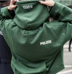 hiphop streetwear urban clothing kpop clothes kanye west box logo hoodie 3in 1 Vetements polizei twisted reversible hoodies top