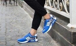 spring new fashion brand sports shoes slip resistant breathable men running shoes