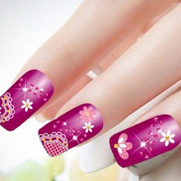 Hot Gold 3D Nail Art Stickers Decals Fashionable Lace styles designs christmas nail stickers