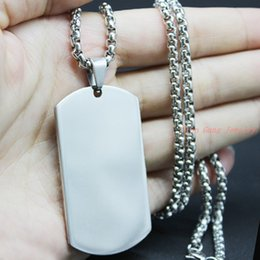 High Quality Stainless Steel Stamping Blank Pendant Dog Tags Pendants Charms Silver Tone Fashion Jewelry Best Gift