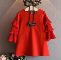 Wholesale halloween girls fall autumn dress ins cotton baby girl long sleeve dresses fashion kids ruffle collar dresses children boutique clothes