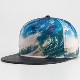 New Brands 3D Color Printing pattern Men Women Sports Hat Hats Baseball Cap Fashion trends Hip Hop Snapback Caps
