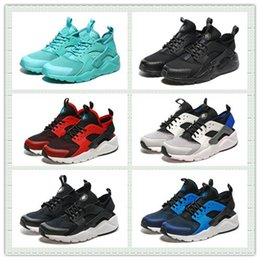 Wholesale Brand Design Black White Red Mesh Air Huarache Ultra Run Sports Shoes Men Women Running Shoes Trainer Sneakers With Box Size US5