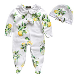 Wholesale Baby Onesies New Style Fashion Baby Fruit Fresh Romper Long Sleeve Rompers Suit For Summer Cotton Girl Clothes