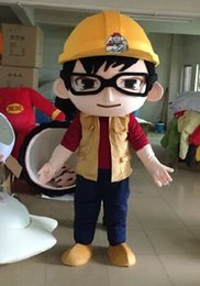 Wholesale Christmas Gift Mascot Costume Builder Construction Building Worker Architect