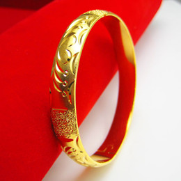 Color gold bracelet female gold plated 18K imitation 24K Bracelet bride wedding jewelry Hongkong thousand thousand