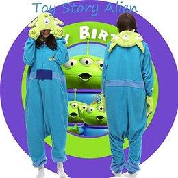 Wholesale Hot Anime Cute Toy Story Alien Onesie Kigurumi Fancy Dress Costume cosplay Hoody Pajamas Sleepwear Size S M L XL
