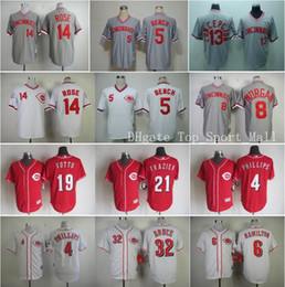 Wholesale Cincinnati Reds Baseball Pete Rose Throwback Jerseys Game Johnny Bench Joey Votto Brandon Phillips Jay Bruce Billy Hamilton