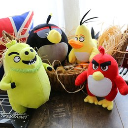 Wholesale The Angry Birds Plush Toy Doll For Kids Baby Children New Movies cm Toys Cute Red Chuck Bomb Matilda Leonard Birthday Gift