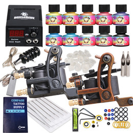 Wholesale Complete Tattoo Kit Machine Guns USA Ink Equipment Needle Power Supply HW GD