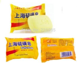 Wholesale 85g Hot Shanghai Sulphur Soap for Skin Conditions Cleansing Soap Anti Bacteria Moisture soap kid soap price