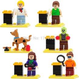 Wholesale Scooby Doo Dog Toys - JLB 3D27901-06 Scooby Doo Minifigures Cute Cartoon Dog Shaggy Zombie 6pcs lot Building Blocks Sets Model Brick Toys