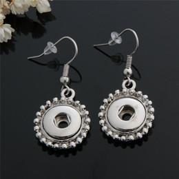 12pairs lot Fashion women noosa chunks metal ginger 12mm snap button dangle earrings jewelry for girls