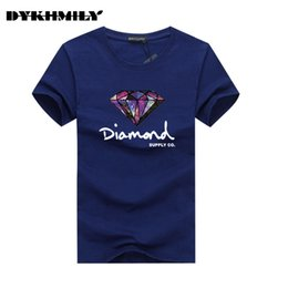 Wholesale Size xlbrand Clothing Cotton Short sleeved Men s T shirt New Summer Printed Diamond Supply Co streetwear Swag Hip Hop Men s T shirt