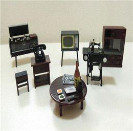 Wholesale Best selling Vintage Japanese Japan Furniture Dollhouse Miniature Fridge Magnet Figure Toy House Furniture Wood Dollhouse Furniture To
