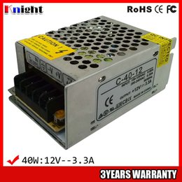 wholesale 40W 3.3A AC90-265V input voltage Power supply for led strip light ,12v led flexible strip power supply 40w