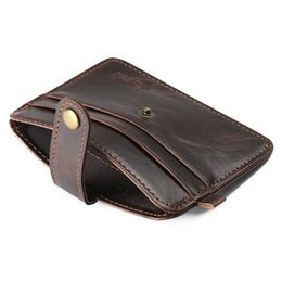 Wholesale hot sale super Slim simple short bi fold men wallet retro card holder coin purse magnet pu leather wallet