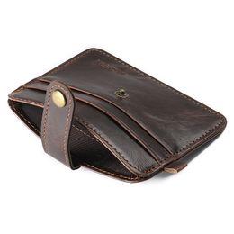 À double bourse de portefeuille en Ligne-Vente chaude super mince courte double bi-pli hommes portefeuille rétro porte-monnaie porte-monnaie porte-monnaie pu portefeuille en cuir