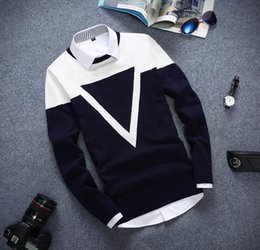 2016 new autumn and winter fashion mens casual sweater pullover round neck long-sleeved sweater jacket Slim Tops Men's Jackets