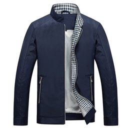 Wholesale High Quanlity Spring And Autumn Mens Jackets And Coats Wrinkle Anti static Man Stand Collar Coats For Men s Jackets Outdoor clothing