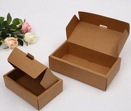 Latas de papel en venta-logo Venta directa de fábrica se pueden imprimir cajas de embalaje de papel Kraft caja de papel Clamshell envío libre 25 * 14 * 6.5cm